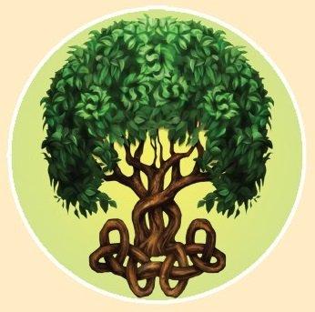 """CELTIC TREE"" STICKERステッカーColor:ONE    Size:直径11.5cm- USA STICKER -"
