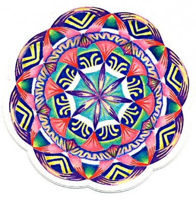 MINI ALOHA MANDALA STICKERColor:ONE    Size:直径7.5cm- USA STICKER -