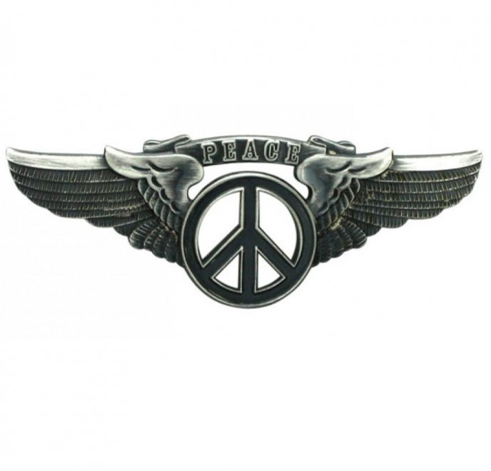PEACE SIGN WING PIN BlackColor:BLACK...