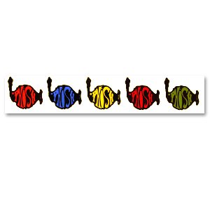 Rainbow Stripe Window Sticker- PHISH DRY GOODS -
