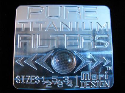 TITANIUM WIRE MESH FILTERSize:375/500/625/750/1inch- MORI DESIGN -
