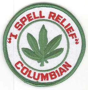"""I SPELL RELIEF"" COLUMBIAN ワッペン- USA PATCH -"