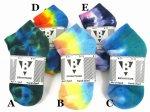 TIE DYE ANKLE SOCKSCOTTON93%,NYLON7%Color:5色展開  Size:US9-11(21cm-26cm)- BRIGHTSIDE -