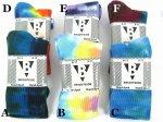 TIE DYE CREW SOCKSCOTTON93%NYLON7%Color:6色展開 Size:US9-11(21cm-26cm)- BRIGHTSIDE -