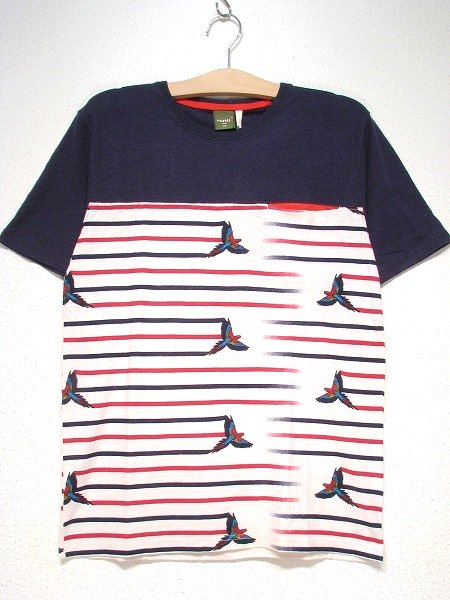 【MEN'S】P IN TEEH/C LIGHT TENJIKUColor;PARROT RED Size:S/M/L- Phatee -