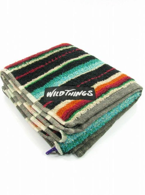 【SALE20%OFF】SERAPE FACE TOWELPATTERNED PILEColor:BLACK Size:ONE- WILD THINGS -