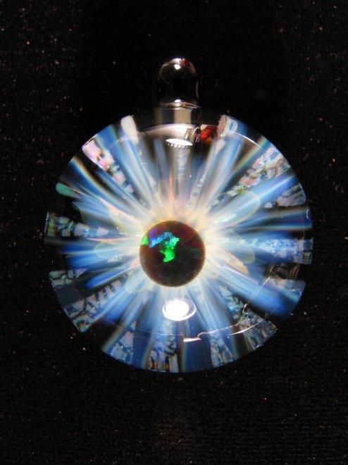 """""""EYE OF GOD OPAL"""" PENDANTH45mm x W33mm- TIEMEYER GLASS -"""