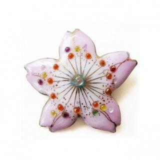 [受注制作]桜の七宝焼ブローチ 1 ※帯留に変更可