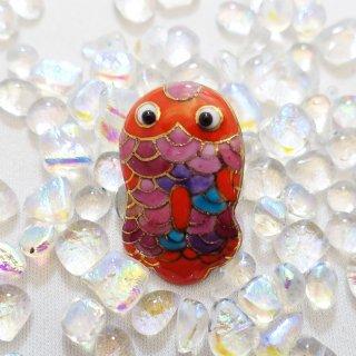 ブリキのおもちゃ金魚の七宝焼ピンブローチ(ピンバッジ)