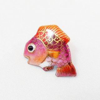 鯛の七宝焼ピンブローチ(ピンバッジ)