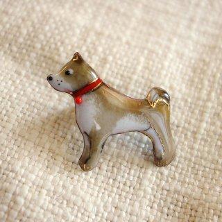 柴犬の七宝焼ピンブローチ(ピンバッジ)  -2
