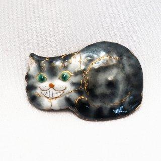 「不思議の国のアリス」の七宝焼ブローチ 2020版 チェシャ猫B