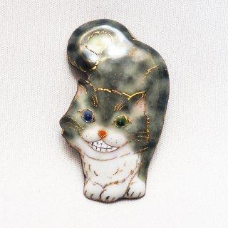 「不思議の国のアリス」の七宝焼ブローチ 2020版 チェシャ猫C