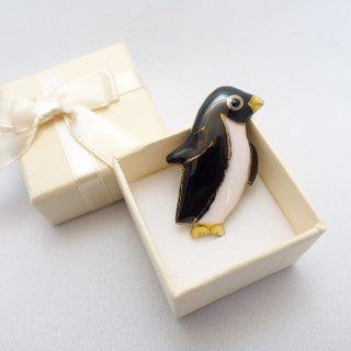 ペンギンの七宝焼ピンブローチ(ピンバッジ)