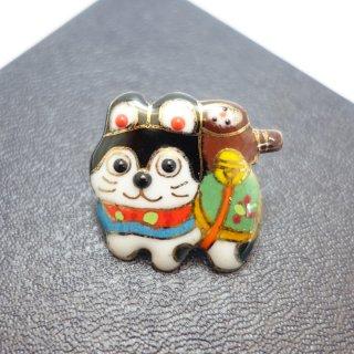 犬張り子の七宝焼ピンブローチ(ピンバッジ) 2