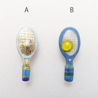 テニスラケットの七宝焼ピンブローチ(ピンバッジ)