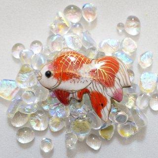 金魚の七宝焼ピンブローチ(ピンバッジ)