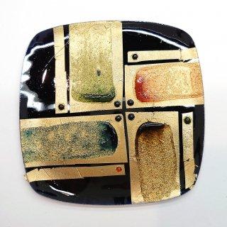 [現品限り]Instagram配信で制作した七宝焼の飾り皿(金箔+彩色)