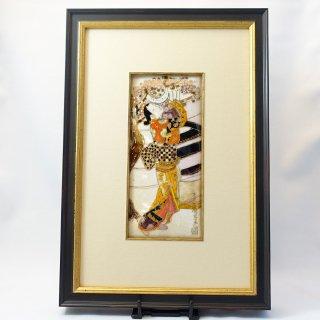 [限定一点物!]七宝焼の浮世絵額「石川豊信 花下美人」