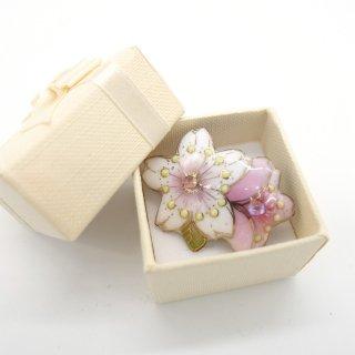 [受注制作]桜の七宝焼ピンブローチ(ピンバッジ) A