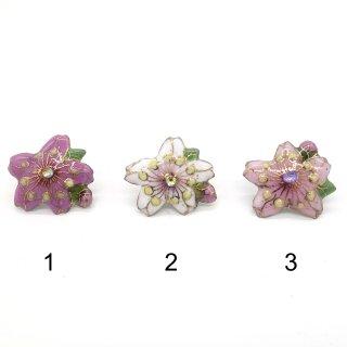 [受注制作]桜の七宝焼ピンブローチ(ピンバッジ)ミニ