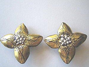 金の花 イヤリング(2)