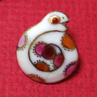 ピンブローチ(ピンバッジ,ピンズ) 干支・巳年(へび)2013白蛇