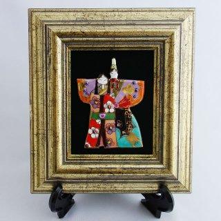雛人形(中)の七宝焼飾り額