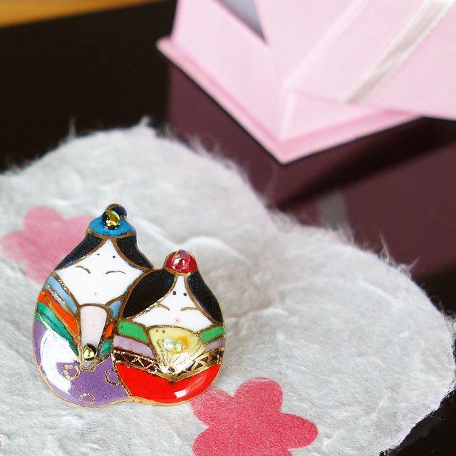 雛人形 ピンブローチ(ピンバッジ,ピンズ)-2