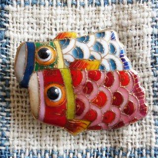 鯉のぼりの七宝焼ブローチ -2