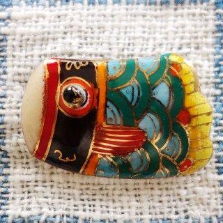こいのぼり・真鯉の七宝焼ブローチ
