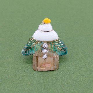 [受注制作]鏡餅の七宝焼ピンブローチ(ピンバッジ)