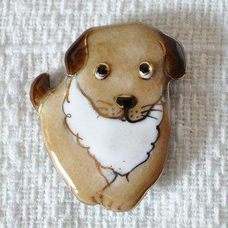 かわいい犬の七宝焼ブローチ(BD-2)