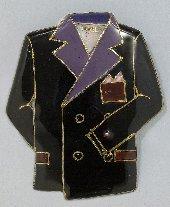 ジャケットの七宝焼ブローチ