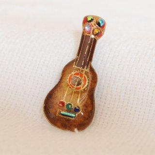 ピンブローチ(ピンバッジ,ピンズ) ギター(茶)