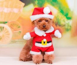 サンタクロース コスチューム ペット用 XS~XLサイズ★ドッグサイズ コスプレ★犬服 クリスマス衣装★仮装【新品★未使用…