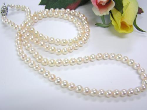 あこや真珠5.5-6mmロングネックレス(74cm)