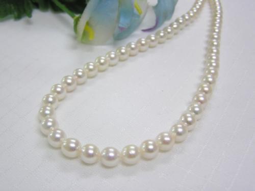 (春セールNo.6)あこや真珠6.5-7mmネックレス
