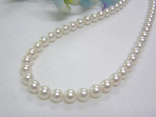 (春セールNo.8)あこや真珠7.5-8mmネックレス