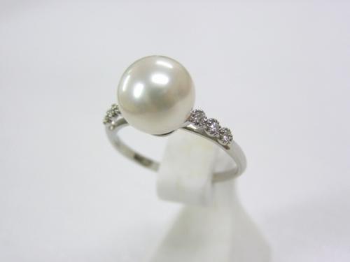 (春セールNo.9)PTあこや真珠9.3mmリング
