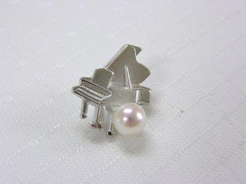 ピアノブローチ(B)あこや真珠