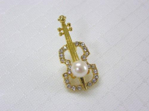 バイオリンブローチ(A)あこや真珠