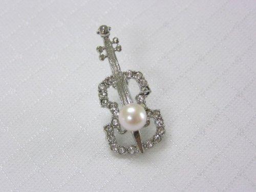 バイオリンブローチ(B)あこや真珠