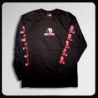 ◆ロゴ ブラックボディー/レッドプリント ロングスリーブ