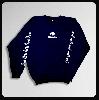 ◆クルーネックスウェット'スカルロゴ ` ネイビー