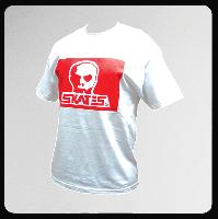 ◆SKULL SKATES JAPANADA ホワイトxレッドプリント Tシャツ