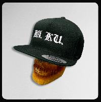◆BA.KU. コットン スナップバックキャップ(ブラック)