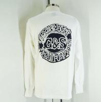 ◆デッドストック G&S SKATEBOARD サークルロゴ 黒プリント 白 (M)