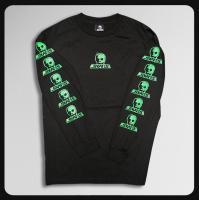 ◆ロゴ 'ブラックxグリーン`ロングスリーブ 限定色