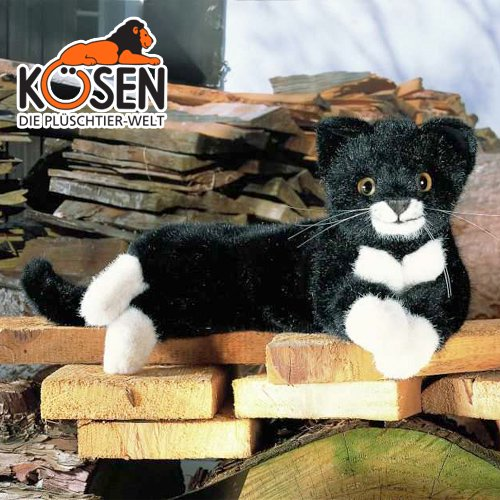 [KOESEN ケーセン社]ねそべり猫 (小) 黒 5470
